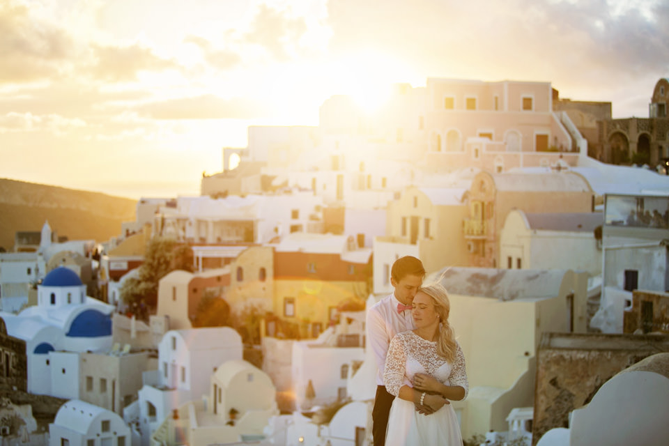 Santorini destinationwedding: Josefin & Tobias