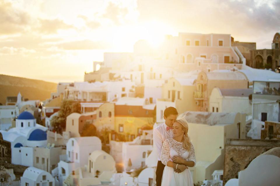Santorini destinationwedding: Josefin & Tobias