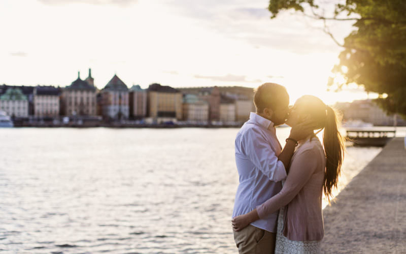 Beloved prewedding moment Skeppsholmen